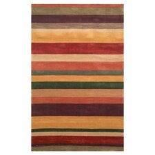 Oslo Rust Stripes Rug