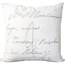 Classical French Script Pillow