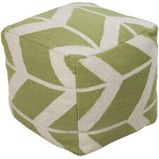 Charismatic Chevron Stripe Pouf