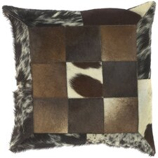 <strong>Surya</strong> Captivating Cow Hide Pillow