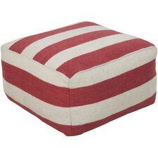 Saucy Stripe Pouf