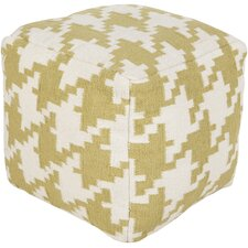 Heavenly Houndstooth Pouf Ottoman