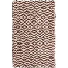 Reeds Maroon/Winter White Rug