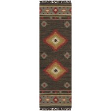 Jewel Tone Dark Beige Rug