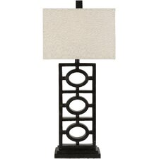 "Madelon 33"" H Table Lamp with Rectangle Shade"