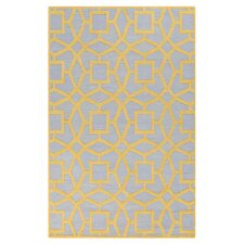 Dream Silvered Gray/Yellow Area Rug