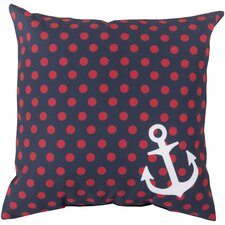 Anchored in Polka Dots Pillow