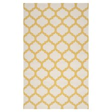Frontier White & Golden Yellow Area Rug