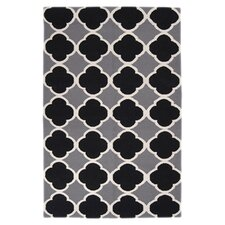 Frontier Grey & Black Geometric Area Rug