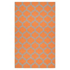Frontier Pumpkin/Flint Gray Area Rug