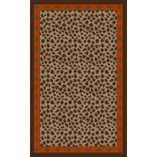 Amour Chocolate Animal Print Rug