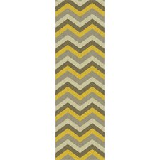 Mamba Gray Chevron Rug