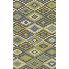 Rain Olive Geometric Indoor/Outdoor Rug