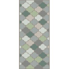 Mugal Moss Geometric Area Rug