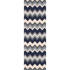 Frontier Gray/Navy Chevron Area Rug