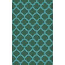 Cosmopolitan Emerald Geometric Area Rug