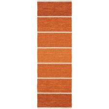 Calvin Rust Striped Area Rug