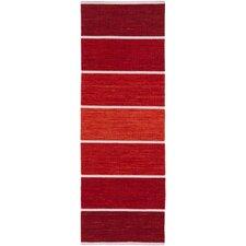 Calvin Burgundy Striped Area Rug