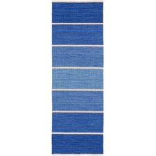 Calvin Cobalt Striped Area Rug