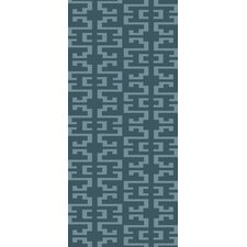 Mugal Teal/Gray Geometric Area Rug