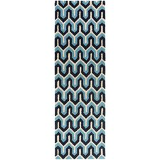 Naya Navy Geometric Area Rug