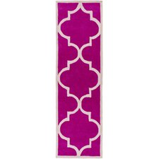 Mamba Hot Pink/Light Gray Geometric Rug