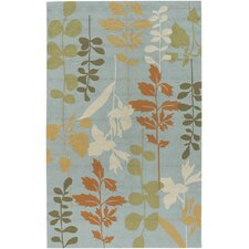 Rain Pale Blue/Grass Rug