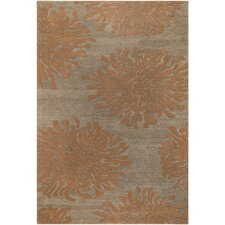 Bombay Peach Tawny Brown Area Rug
