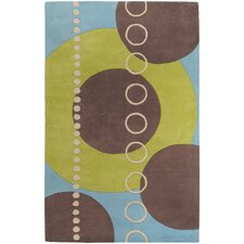 Forum Sky/Brown Circle Area Rug