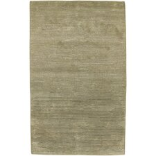 Mugal Light Silver Green Rug