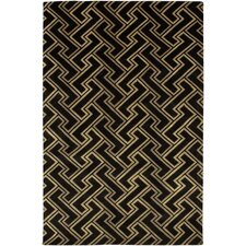 Mugal Black Area Rug