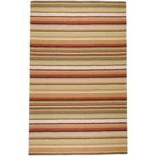 Mystique Red Multi Small Striped Rug