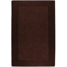 Mystique Chocolate Border Rug