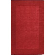 Mystique Red Border Area Rug