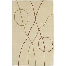 Studio Beige/Red Rug