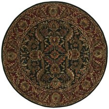 Ancient Treasures Black/Brick Red Rug