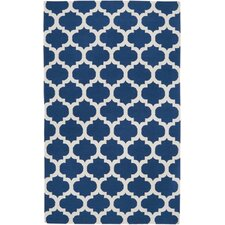 Frontier Mediterranean Blue/White Winter Geometric Area Rug