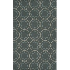 Rain Stormy Sea Circle Indoor/Outdoor Rug