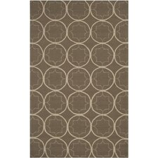Rain Stone Circle Indoor/Outdoor Rug