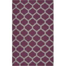 Frontier Raspberry Wine/Gray Rug