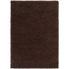 Luxury Shag Dark Chocolate Rug