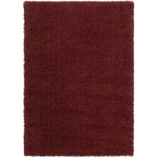 Luxury Brick Red / Sienna Shag Rug