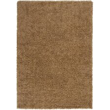 Luxury Shag Dark Khaki/Tan Rug