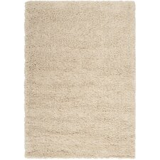 Luxury Shag Putty/Winter White Rug