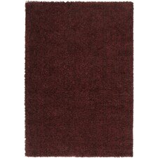 Luxury Shag Brick Red/Dark Chocolate Rug