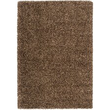 Luxury Tan / Dark Chocolate Shag Rug