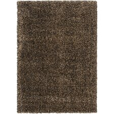 Luxury Jet Black / Fatigue Shag Rug