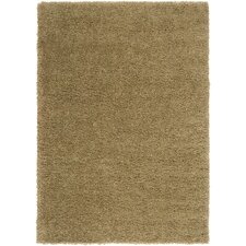 Luxury Tan / Lima Bean / Khaki Green Shag Rug