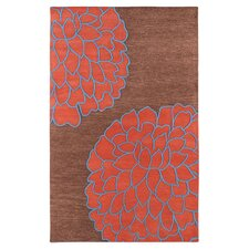 Artist Studio Brown/Sky Red Area Rug