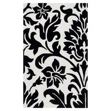 Cosmopolitan White and Black Rug